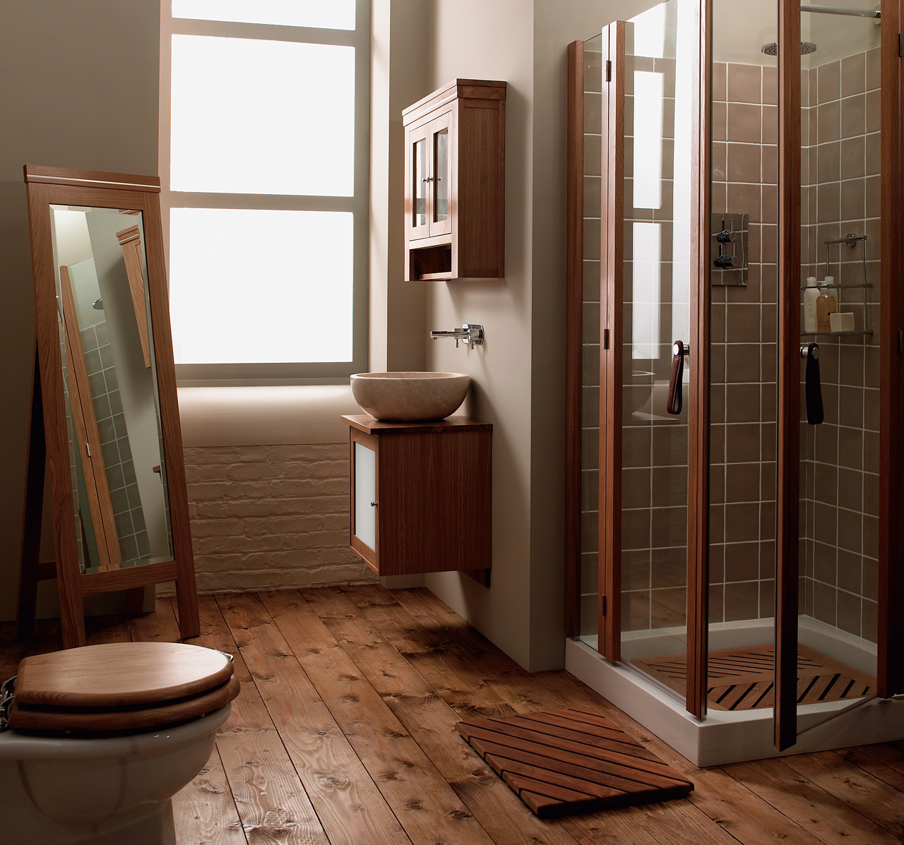 Classic Bathrooms: Imperial Bathrooms - Maypool-oak-cloakroom